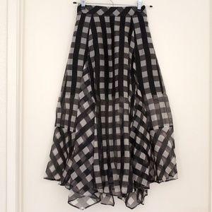 Marissa Webb Yasmin Printed Handkerchief-Hem Skirt